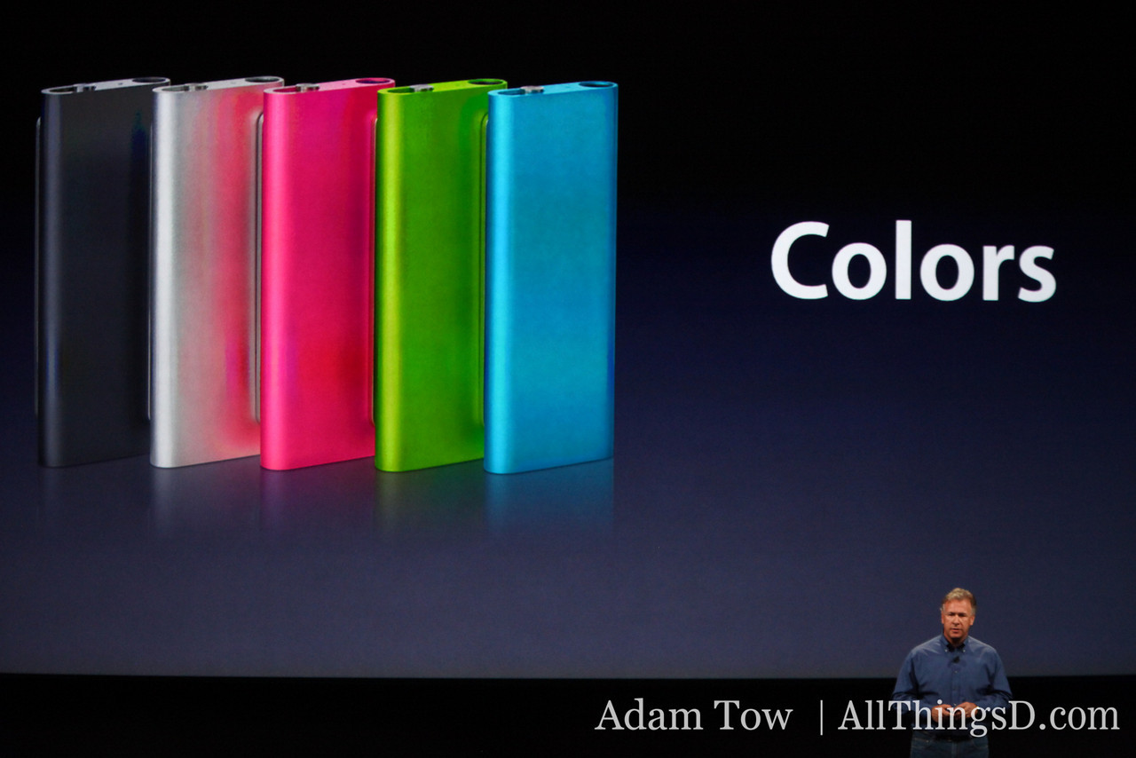 The iPod Nano gets an upgrade too--with colors.