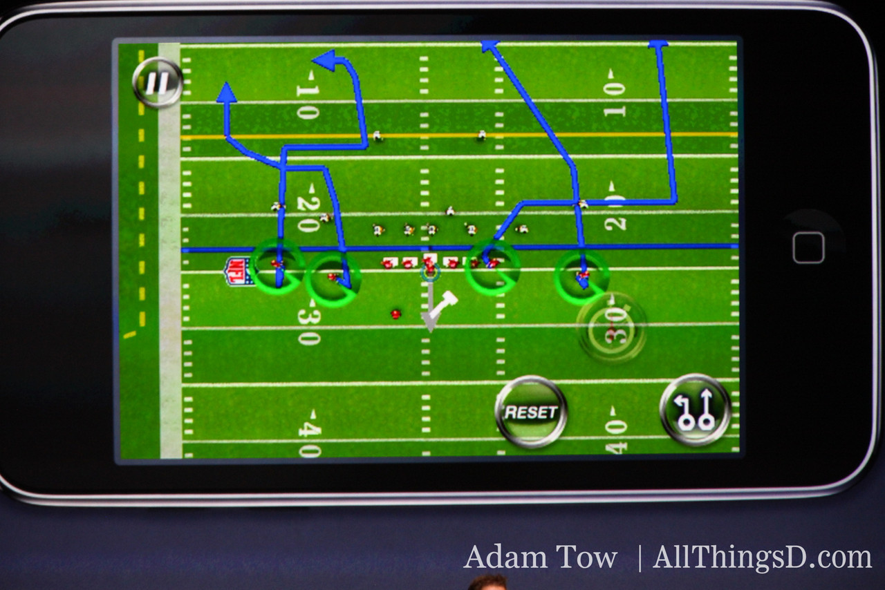 Madden's draw-a-play-onscreen feature was developed specifically with the iPhone touchscreen in mind.