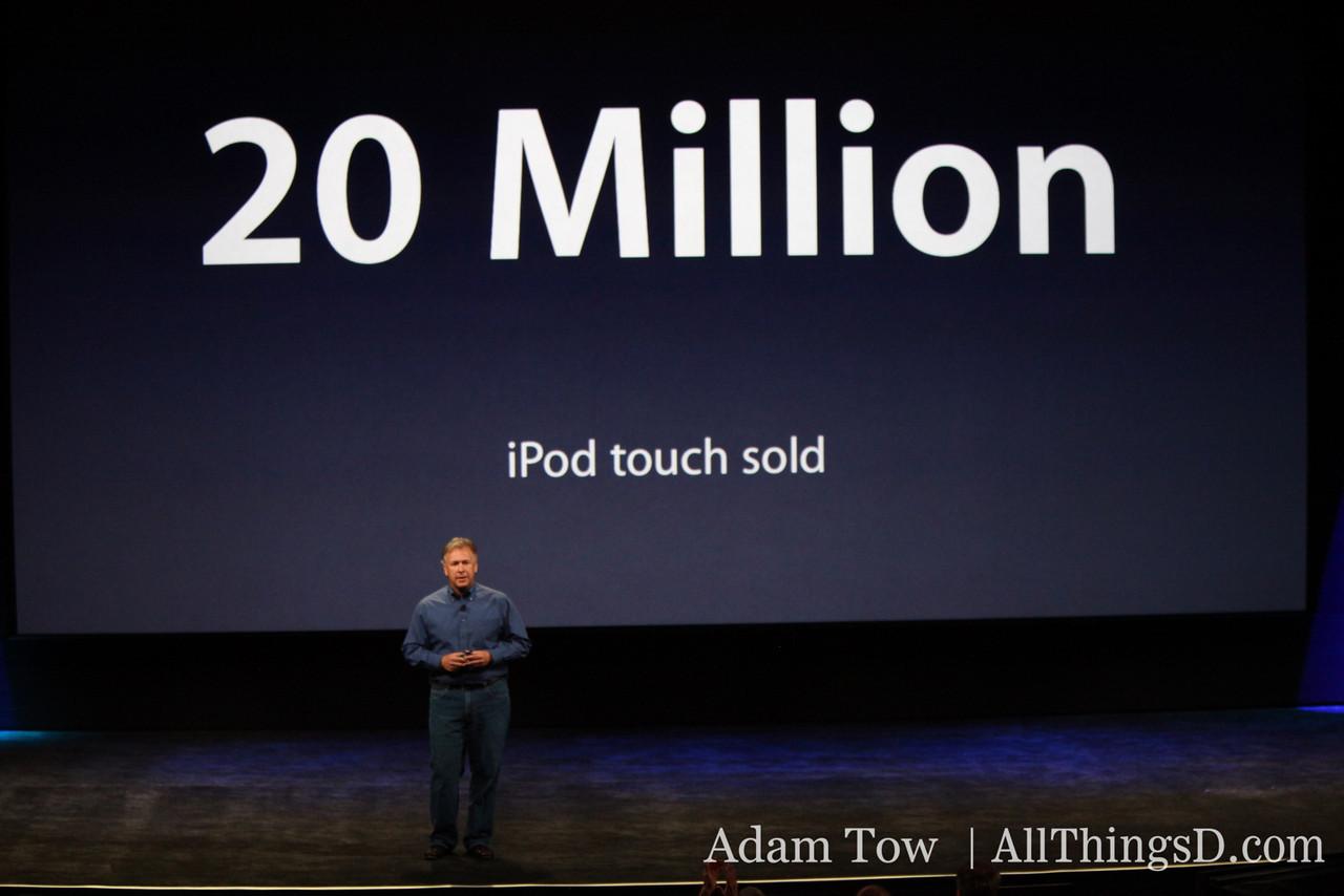 20 million iPod Touches sold.
