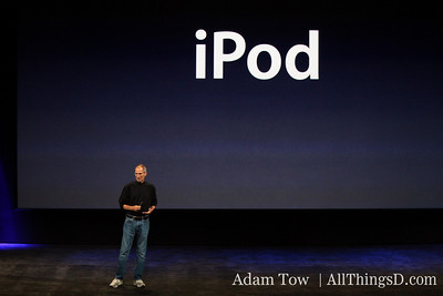 Jobs introduces Apple SVP Phil Schiller to talk about the iPod.