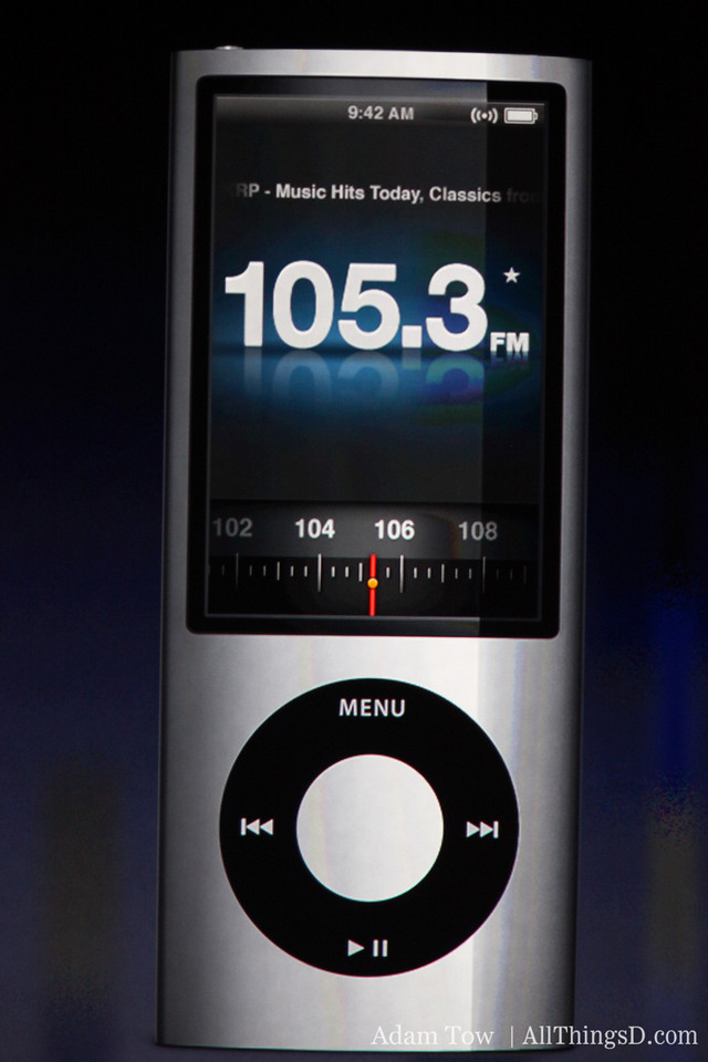 FM Radio has also been added to the Nano.