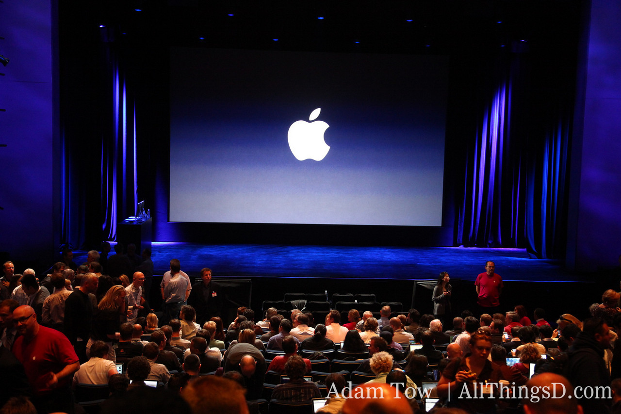 """Inside Yerba Buena Center for the Arts for the Apple """"Let's Rock"""" event."""
