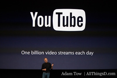 YouTube sees one billion video streams per day.