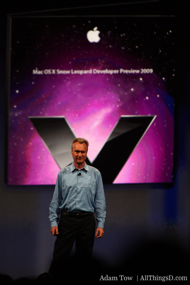 Bertrand Serlet, Apple SVP of Software Engineering, gives preview of Snow Leopard.