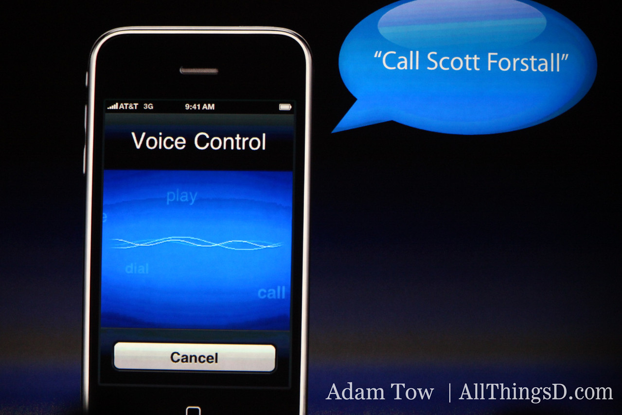 Live demo of voice control, onstage at WWDC.