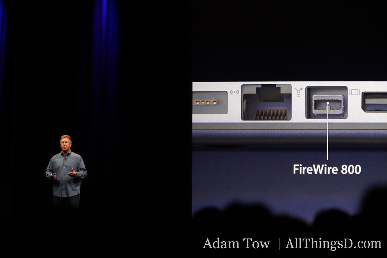 FireWire returns in the revised MacBook Pro 13-inch.