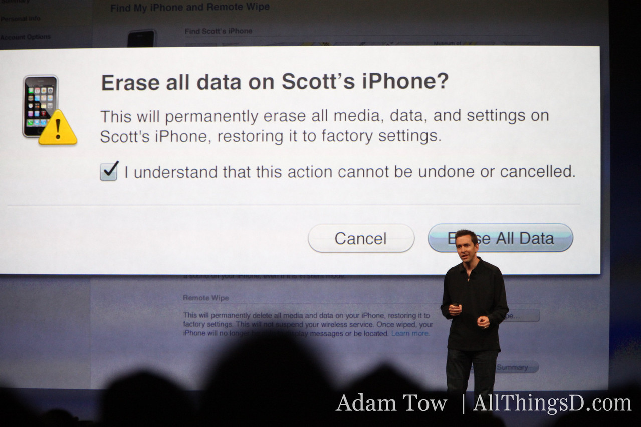 And if you can't find your iPhone? The app features a remote wipe of all info.