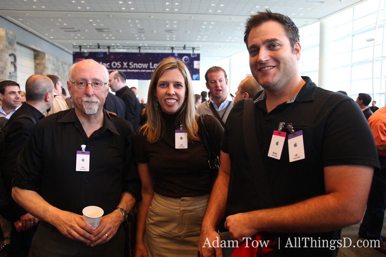 All Things Digital is well represented at WWDC: Walt Mossberg, Katie Boehret and John Paczkowski.