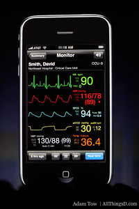 Airstrip Technologies, a medical app developer, offers realtime medical data delivered remotely to iPhone. Measurable and searchable.