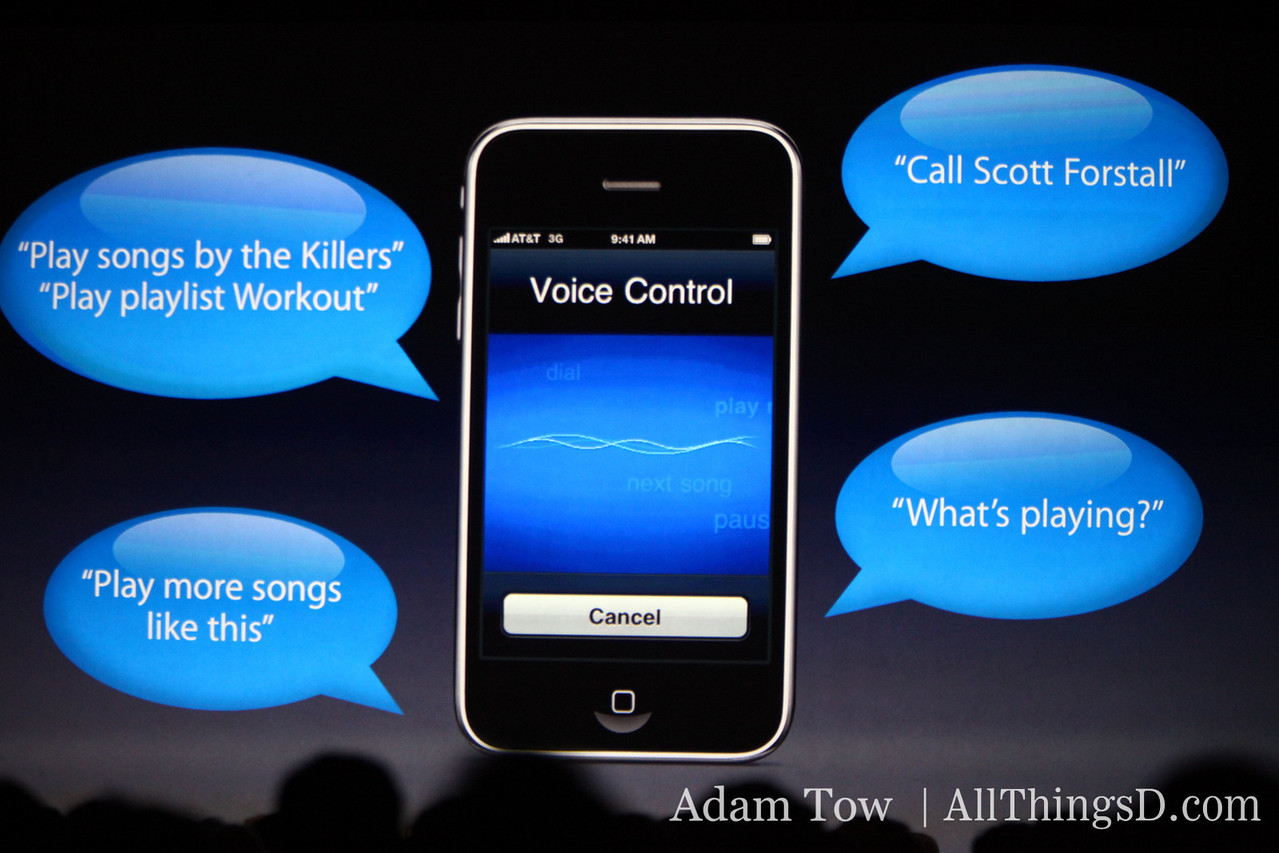 Voice control demo'd at WWDC.