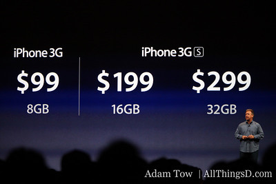 Apple CEO Phil Schiller runs through pricing across the different models.