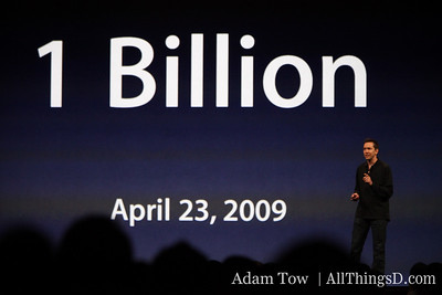 Scott Forstall, SVP of iPhone Software, takes the stage.