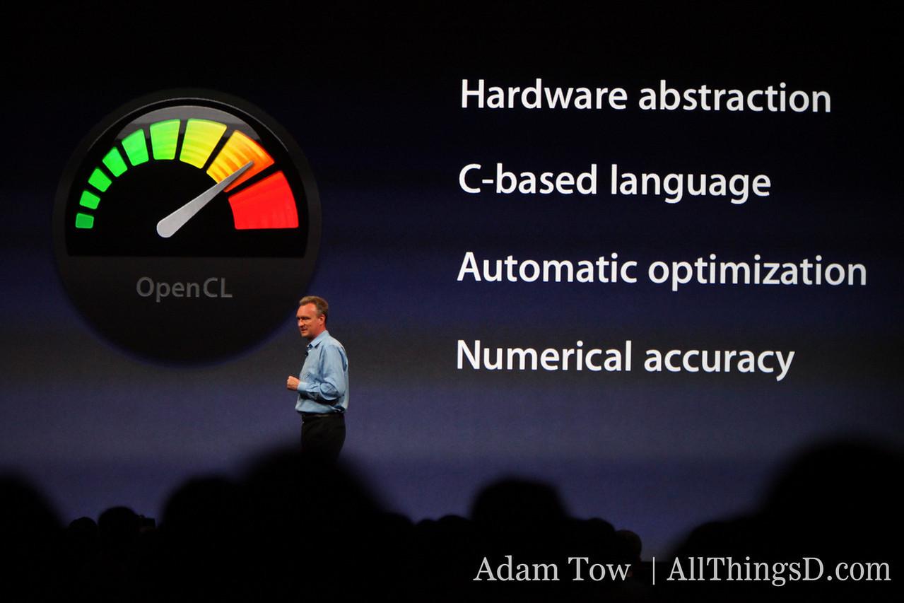 Bertrand Serlet, Apple's SVP of Software Engineering, presents at WWDC.