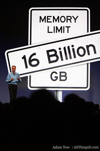 Bertrand Serlet, Apple's SVP of Software Engineering, speaks to memory enhancements.