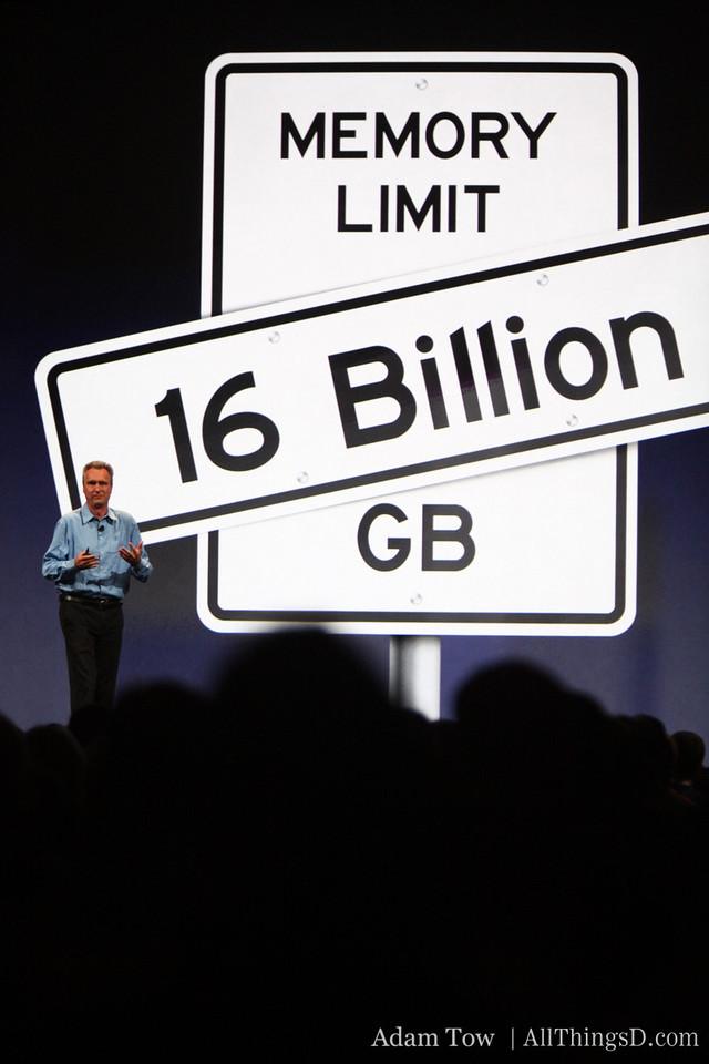 Bertrand Serlet, Apple's SVP of Software Engineering, speaks to memory enhancements.