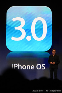 Scott Forstall, Apple's SVP of iPhone Software, presents at WWDC.
