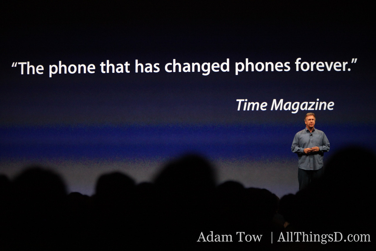 Paul Schiller, Apple CEO, returns to the stage to talk up the iPhone.