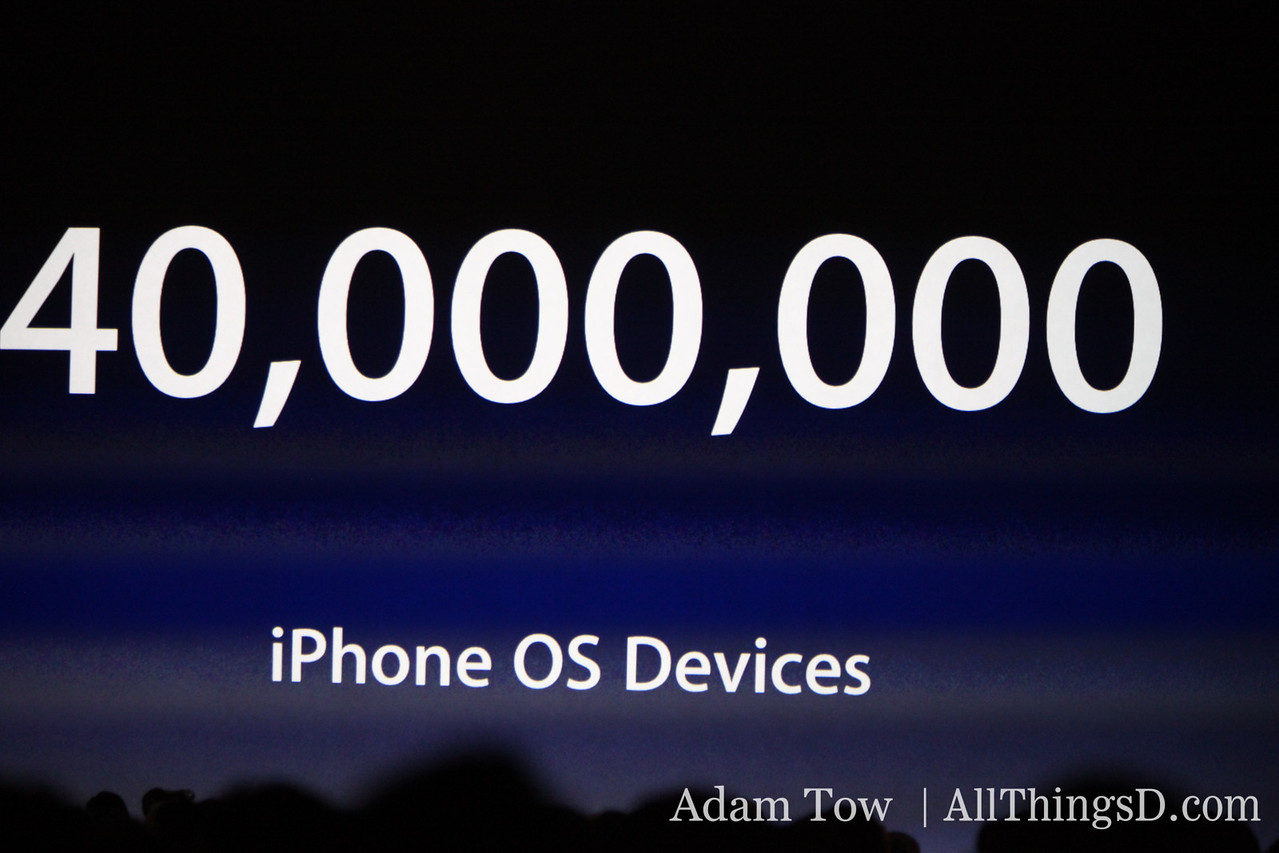 40 million sold -- iPhones and iPod touches.