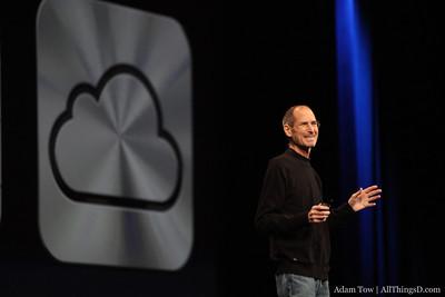 Steve Jobs talks about iCloud.