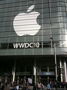 Moscone West is transformed into WWDC 2010.