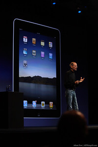 "Jobs:  ""We're in 10 countries today, we're going to be in 19 by July…we're making iPads as fast as we can."""