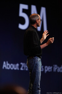 Users have so far downloaded 5 million iBooks. That's 2.5 per iPad.