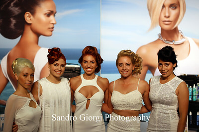 Aquage models.  Aquage artistic Team at Armstrong Mc Call Fashion Focus Hair Show in Corpus Christi; Texas. May 2014. Photo by Sandro Giorgi
