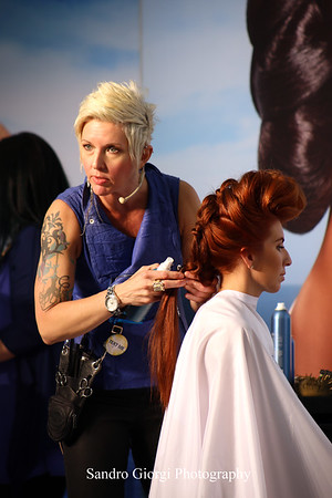 Aquage artistic Team at Armstrong Mc Call Fashion Focus Hair Show in Corpus Christi; Texas. May 2014. Photo by Sandro Giorgi