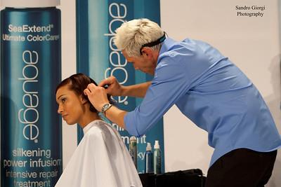 Aquage Team and Model at Armstrong Mac Call Hair Show, San Antonio, Texas 2013  Hair by Aguage