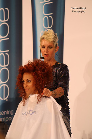 Aquage Team and Model at Armstrong Mac Call Hair Show, San Antonio, Texas 2013  Hair by Aguage
