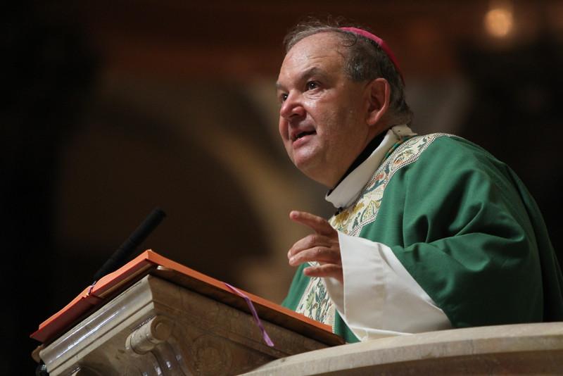Archbishop Hebda delivers the homily. Dave Hrbacek/The Catholic Spirit
