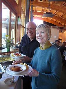 Volunteers Rene Kaldunski and husband Rich Valentine of TIP printing.