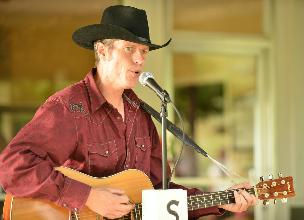 Steve Frame of Casper performs at the clubhouse Friday evening at the Big Horn Equestrian Center.