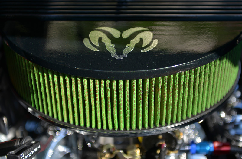 Justin Sheely | The Sheridan Press<br /> A detail from a Dodge classic during the Karz Rod Run car show Saturday morning on Main Street. The show had more than 160 entries this year – one of the fullest in recent years.