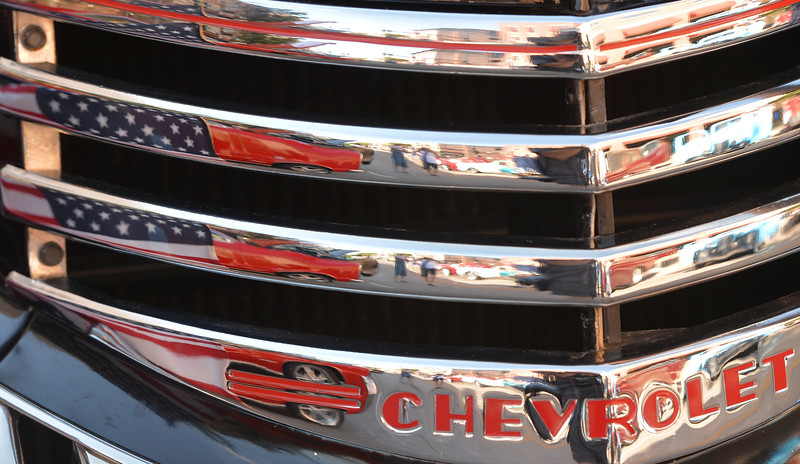 Justin Sheely | The Sheridan Press<br /> A detail from a classic Chevrolet during the Karz Rod Run car show Saturday morning on Main Street. The show had more than 160 entries this year – one of the fullest in recent years.