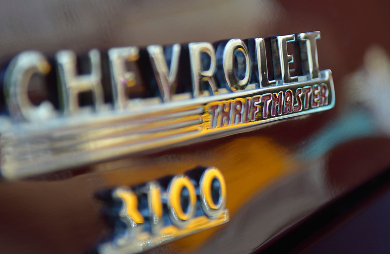 Justin Sheely | The Sheridan Press<br /> A detail shot of a '49 Chevrolet truck during the Karz Rod Run car show Saturday morning on Main Street. The show had more than 160 entries this year – one of the fullest in recent years.