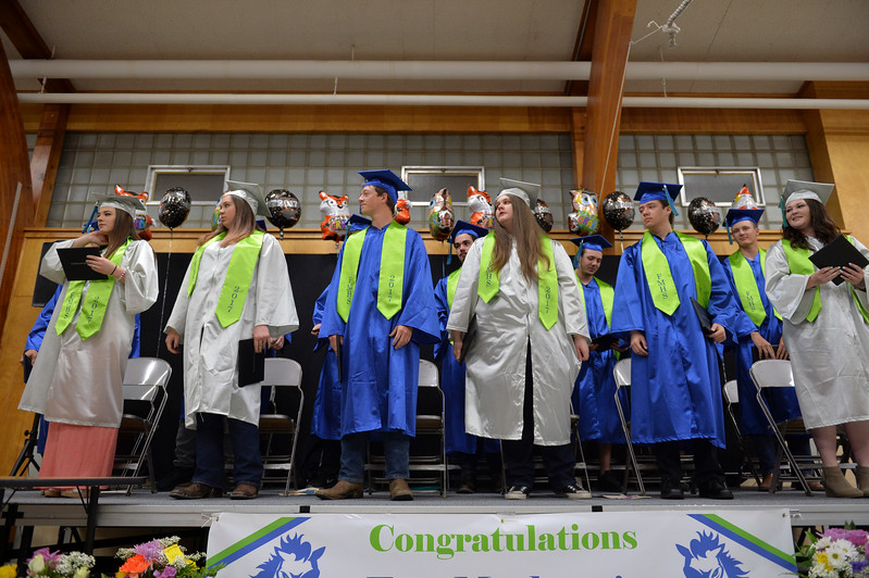 Justin Sheely | The Sheridan Press<br /> The class of 2017 is recognized during the 2017 Graduation Ceremony Saturday at Fort Mackenzie High School.