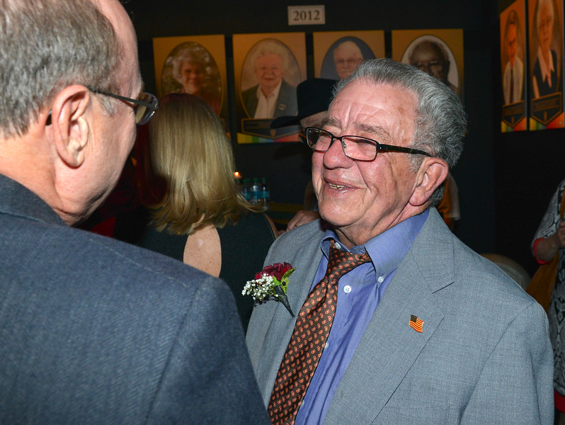 Justin Sheely | The Sheridan Press<br /> Honoree Jim Wilson mingles during the annual Keystone Awards Thursday at the WYO Theater. This year's honorees were Reta Onstott, Forrest and Jacomien Mars and Jim Wilson.