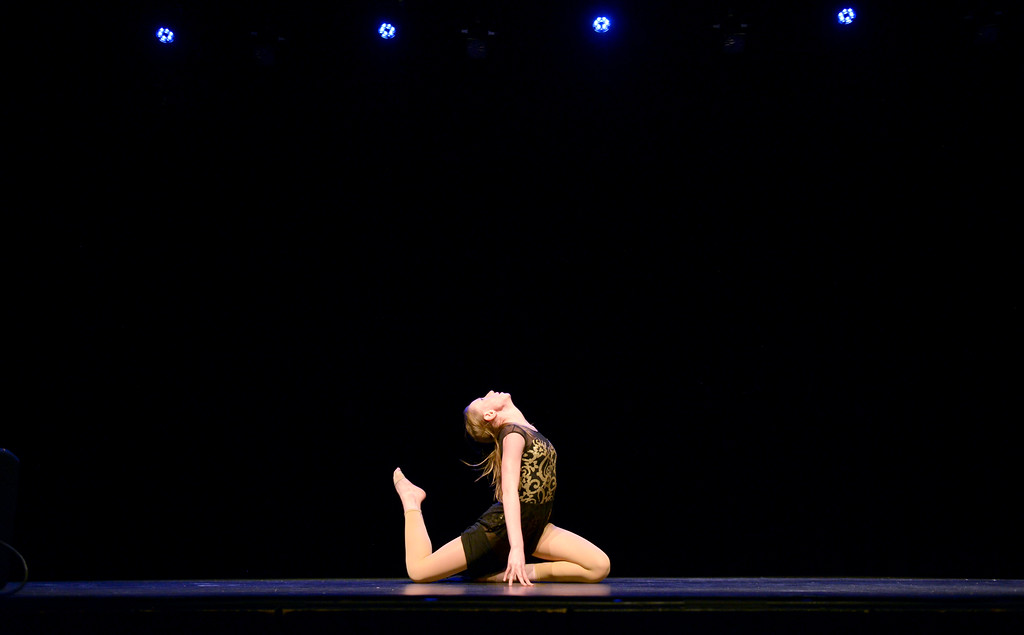 Justin Sheely | The Sheridan Press<br /> Hailey Pepin dances during the dress rehearsal for Stars of Tomorrow Thursday at the WYO Theater. The Sheridan Kiwanis Club talent contest is Friday, 7 p.m. at the WYO Theater.