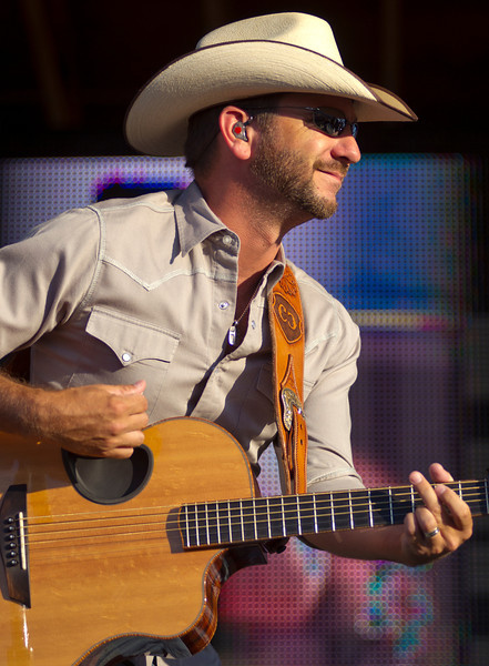 Craig Campbell performs the opening act during the Alan Jackson Concert Sunday at the Trails End Concert Park. (Justin Sheely/The Sheridan Press)