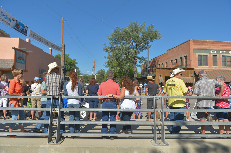 Justin Sheely | The Sheridan Press <br /> Crowds gather prior to the parade during the sixth annual Longmire Days Saturday on Main Street in Buffalo, Wyoming. The show is based on local author Craig Johnson's novels set in the fictional town of Durant, inspired by the town of Buffalo. Longmire's sixth and final season will be on Netflix sometime this year.