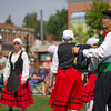 David Romtvedt, right, plays a Basque-style accordion called the Trikitixa with the dancers of the Big Horn Basque Club during Longmire Days Saturday at the Crazy Woman Square in Buffalo.