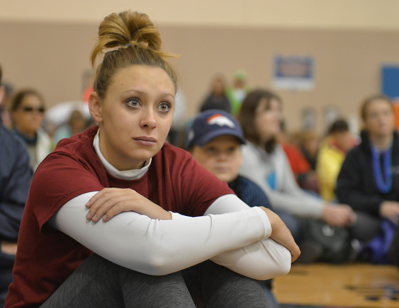 Justin Sheely | The Sheridan Press<br /> Kelsey Ouzts listens as Lisa O'Dell shares about her lost son, Justin O'Dell during the Out of the Darkness suicide prevention walk Saturday at the YMCA. The event is held annually in Sheridan and across the nation by the American Foundation for Suicide Prevention. The walk benefits the AFSP and promotes awareness for suicide prevention and to destigmatize seeking mental help.