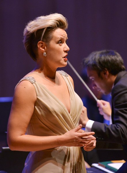 Justin Sheely | The Sheridan Press<br /> Sarah Brailey sings soprano with the Colorado Symphony during the inaugural concert Saturday night at the Whitney Center for the Arts Concert Hall.