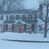 Raw video: Williamsburg House in the snow at dusk on Saturday.