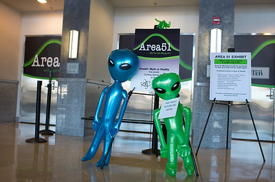 area 51 exhibit opens at national atomic testing museum in las vegas in this photo.