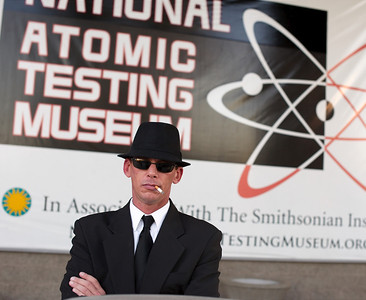 Don't mess with Erik - area 51 exhibit opens at national atomic testing museum in las vegas in this photo.