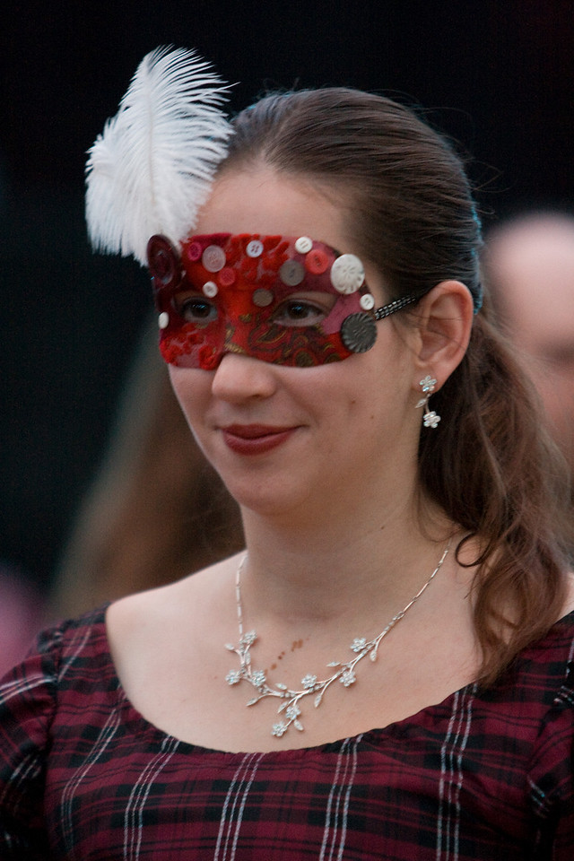 Laura at the Goblin Ball.