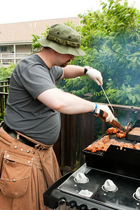 Steve Huff as Saturday's grill master.