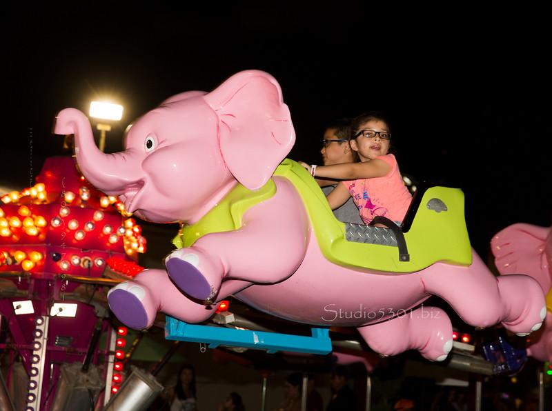 girl in Flying elephant 4630